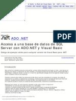 Acceso a Una Base de Datos de SQL Server Con ADO.net y Visual Basic