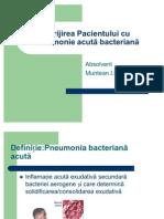 Îngrijirea Pacientului cu Pneumonie acută bacteriană