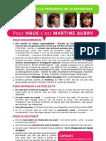 Argumentaire Martine Aubry 2012