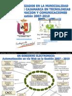 Municipalidad Provincial de Cajamarca - Gestion.2007-2010 - Eduar.Cordova