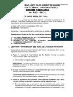 Acta de 28 Abril Del 2011