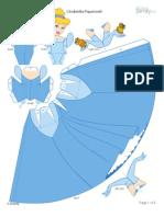 cinderella - Cinderela para recortar e montar 3D