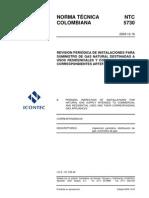 NTC. 5730...REVISIÓN PERIÓDICA DE INSTALACIONES PARA