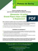 Invitation PiqueNique EELV Plateau de Saclay