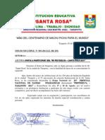 Bases e Invitacion a Festiselva 2011 - Etapa Naciona Ie - Sta. Rosa.