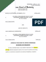 Pottinger v Botts & GMAC -  Kentucky Supreme Court 2011-04-21-2009-SC-000515-TG-1