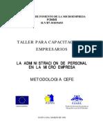 Cefe - Taller Para Capacitacion a Empresarios