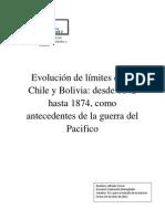 Evolución de los límites entre Chile y Bolivia desde 1842 hasta 1874