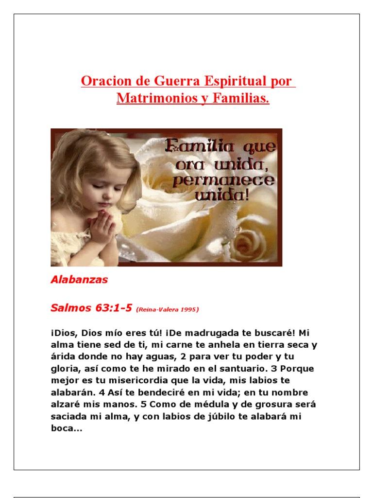 Oracion De Guerra Espiritual Por Matrimonios Y Familias Pecado Cristo Título
