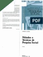 GIL, Antonio Carlos - Métodos e técnicas de pesquisa social
