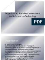 Organization, Business Environment and Information Technology