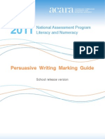 Marking Guide 2011