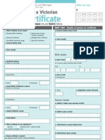 Birth Certificate Application
