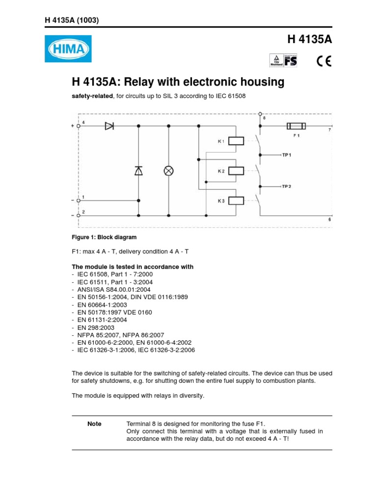 H4135a E Relay Fuse Electrical