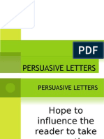CHP5 - Persuasive Letters