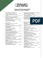 ZfWG Ausgabe 03 11 Inhaltsverzeichnis HP