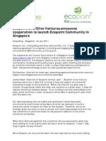 Ecopoint Olive Ventures Announcement