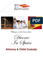 Alimony & Child Custody after Divorce in Spain