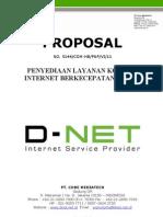 D-NET Proposal Penawaran Akses Internet Dedicated Line Service 2011 (Wisnu Utomo)