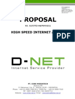 D-NET Proposal Internet Access Dedicated Line Service 2011 (Wisnu Utomo)