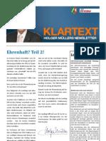 klartext77 +++ Newsletter von Holger Müller MdL