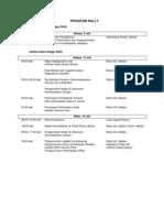 Program & Itinerary Medan Rally