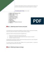 Procedure of Importing Goods