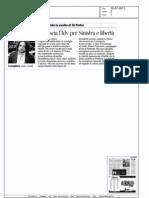 Pirellone, Cavalli lascia l'Idv per Sinistra ecologia libertà (Corriere della sera)