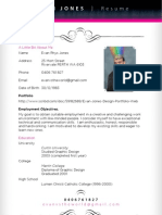 Evan Jones Designer Resume