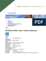 Mamata Banerjee Resume