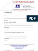 EATI Students' Application Form