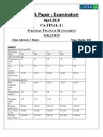 Pen & Paper Final Group I SFM April 10 Test 1 Answer