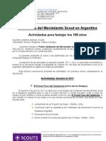 Centenario del Movimiento Scout en Argentina