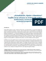FES 2011_ChaguacedaAportes_Actualización,AjusteoAbandonoImpactoReformasCuba