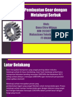 Pembuatan Gear Dengan Metalurgi Serbuk
