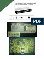 RECUPERAÇÃO DE MODEM TP-LINK TD-8810-VIA TELNET