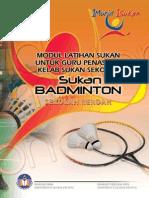 badminton sr Modul Latihan Sukan untuk Guru Penasihat Kelab Sukan Sekolah