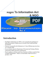 Right to Information Act & NGO