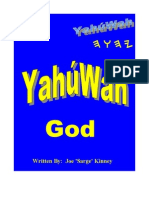 YahúWah - God - Name to be shouted from the roof top's of world