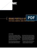 Schawk-Brand Portfolio Optimization