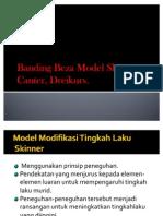 Banding Beza Model Skinner, Canter, Dreikurs