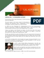 Blog 4 July 11 Lokpal Bill Chequered History[1]