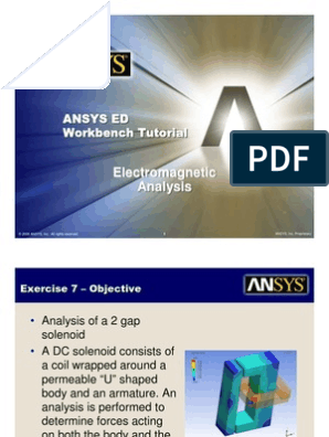 ANSYS 10 0 Workbench Tutorial - Exercise 7, Electromagnetics