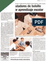 Usan computadores de bolsillo para mejorar el aprendizaje escolar - La Tercera - 11.03.2003