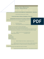 Informe Medicina alternativa