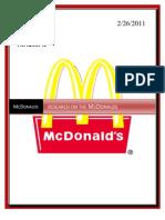 MMR Mcdonal Project