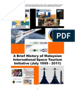 A Brief History of International Malaysian Space Tourism Initiative (July 1999 - 2011)