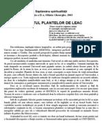 Secretul Plantelor de Leac - Saptamana Spiritualitatii 20031