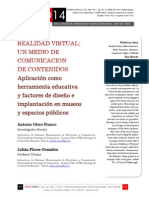 Icono14. A9/V2. Realidad Virtual. Un medio de comunicación de contenidos