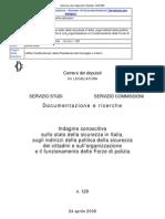 Camera Dei Deputati_Indagine Conoscitiva Sulla Sicurezza in Italia_2008